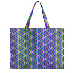 Colorful Retro Geometric Pattern Mini Tote Bag by DanaeStudio