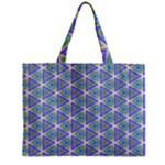 Colorful Retro Geometric Pattern Zipper Mini Tote Bag