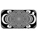 Black And White Ornamental Flower Apple iPhone 4/4S Hardshell Case (PC+Silicone) View1