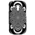 Black And White Ornamental Flower Samsung Galaxy S3 MINI I8190 Hardshell Case View2