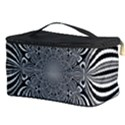 Black And White Ornamental Flower Cosmetic Storage Case View3