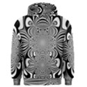 Black And White Ornamental Flower Men s Pullover Hoodie View1