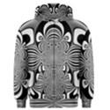 Black And White Ornamental Flower Men s Zipper Hoodie View1
