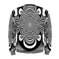 Black And White Ornamental Flower Men s Sweatshirt by designworld65