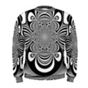 Black And White Ornamental Flower Men s Sweatshirt View1