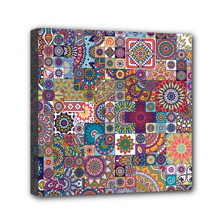 Ornamental Mosaic Background Mini Canvas 6  x 6