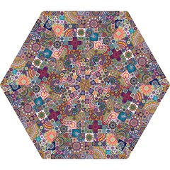 Ornamental Mosaic Background Mini Folding Umbrellas