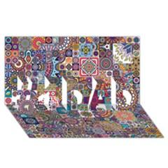 Ornamental Mosaic Background #1 DAD 3D Greeting Card (8x4)