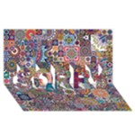 Ornamental Mosaic Background SORRY 3D Greeting Card (8x4)