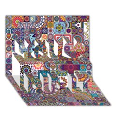 Ornamental Mosaic Background You Did It 3d Greeting Card (7x5) by TastefulDesigns