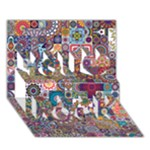 Ornamental Mosaic Background You Rock 3D Greeting Card (7x5)