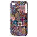 Ornamental Mosaic Background Apple iPhone 4/4S Hardshell Case (PC+Silicone) View3
