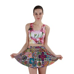 Ornamental Mosaic Background Mini Skirt