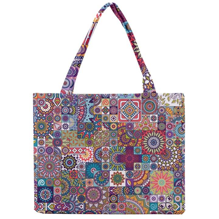 Ornamental Mosaic Background Mini Tote Bag