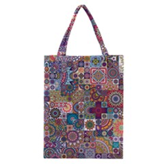 Ornamental Mosaic Background Classic Tote Bag