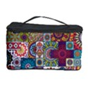 Ornamental Mosaic Background Cosmetic Storage Case View1