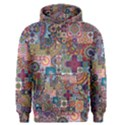Ornamental Mosaic Background Men s Pullover Hoodie View1