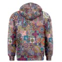 Ornamental Mosaic Background Men s Pullover Hoodie View2