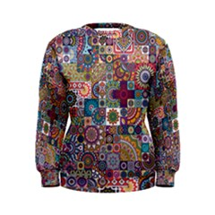 Ornamental Mosaic Background Women s Sweatshirt