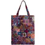 Ornamental Mosaic Background Zipper Classic Tote Bag