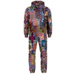 Ornamental Mosaic Background Hooded Jumpsuit (Men)