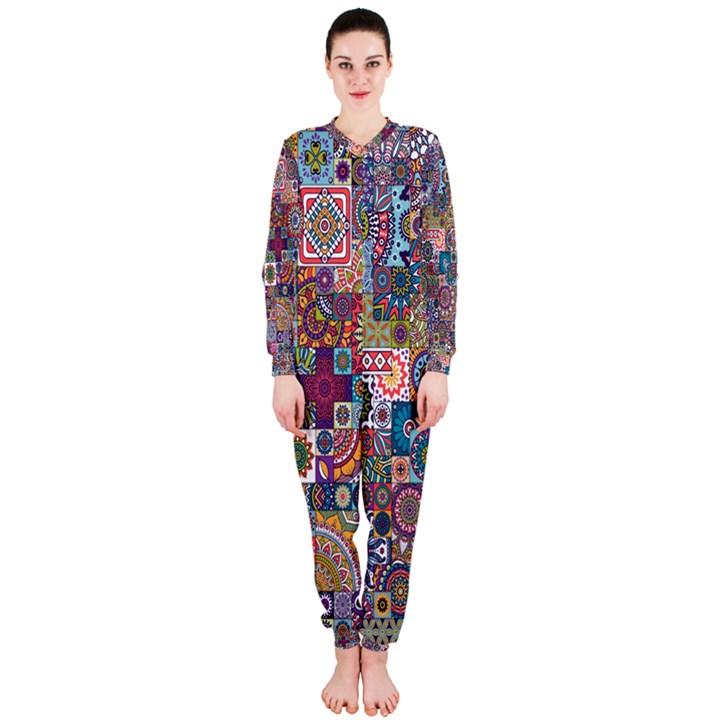 Ornamental Mosaic Background OnePiece Jumpsuit (Ladies)