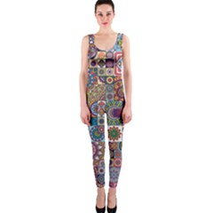 Ornamental Mosaic Background Onepiece Catsuit by TastefulDesigns