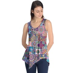 Ornamental Mosaic Background Sleeveless Tunic by TastefulDesigns