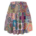Ornamental Mosaic Background High Waist Skirt View2