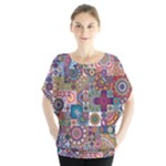 Ornamental Mosaic Background Blouse