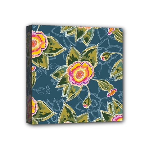 Floral Fantsy Pattern Mini Canvas 4  X 4  by DanaeStudio
