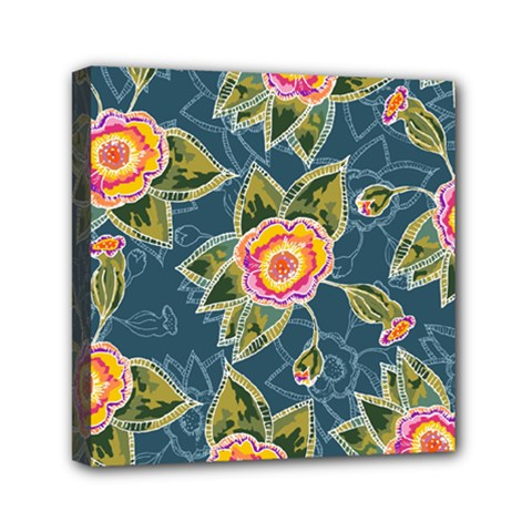 Floral Fantsy Pattern Mini Canvas 6  X 6  by DanaeStudio