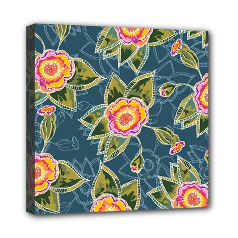Floral Fantsy Pattern Mini Canvas 8  X 8  by DanaeStudio