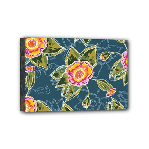 Floral Fantsy Pattern Mini Canvas 6  X 4  by DanaeStudio