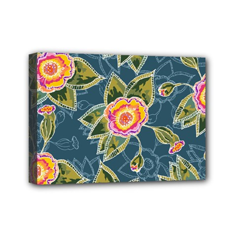 Floral Fantsy Pattern Mini Canvas 7  X 5  by DanaeStudio