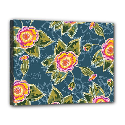Floral Fantsy Pattern Canvas 14  X 11  by DanaeStudio