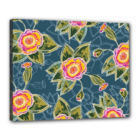Floral Fantsy Pattern Canvas 20  X 16  by DanaeStudio