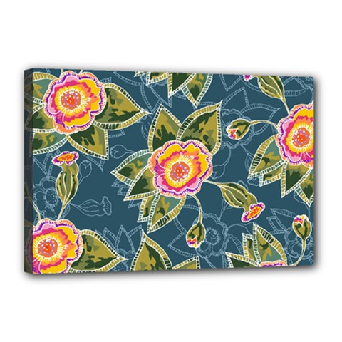 Floral Fantsy Pattern Canvas 18  X 12  by DanaeStudio