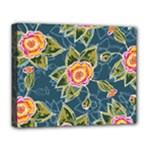 Floral Fantsy Pattern Deluxe Canvas 20  x 16