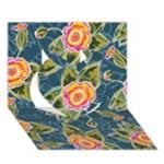Floral Fantsy Pattern Heart 3D Greeting Card (7x5)