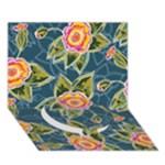 Floral Fantsy Pattern Circle Bottom 3D Greeting Card (7x5)
