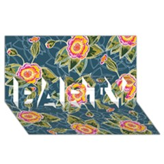 Floral Fantsy Pattern Party 3d Greeting Card (8x4) by DanaeStudio