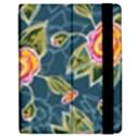 Floral Fantsy Pattern Apple iPad 2 Flip Case View2