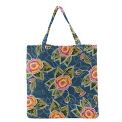 Floral Fantsy Pattern Grocery Tote Bag by DanaeStudio