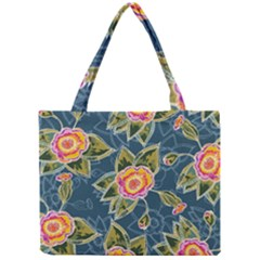 Floral Fantsy Pattern Mini Tote Bag by DanaeStudio