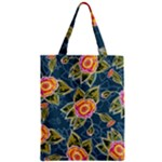 Floral Fantsy Pattern Zipper Classic Tote Bag