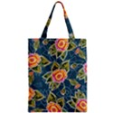 Floral Fantsy Pattern Zipper Classic Tote Bag View1