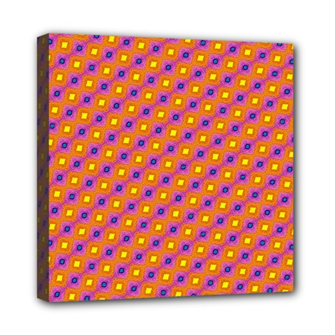 Vibrant Retro Diamond Pattern Mini Canvas 8  x 8