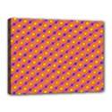 Vibrant Retro Diamond Pattern Canvas 16  x 12  View1