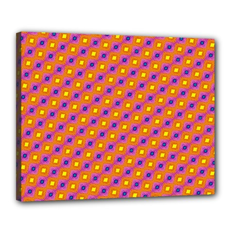 Vibrant Retro Diamond Pattern Canvas 20  x 16
